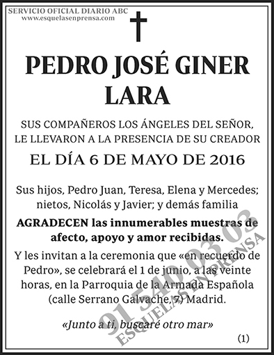 Pedro José Giner Lara